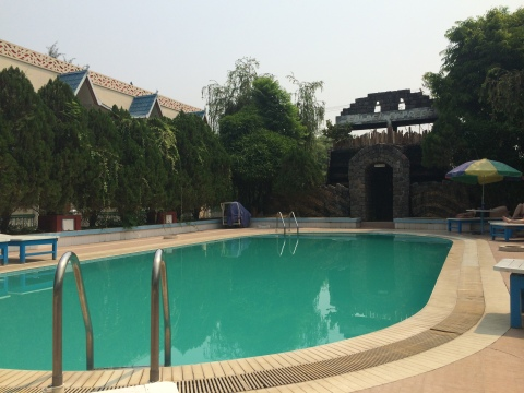 Time for a swim at the Hotel Umbra, Bagan