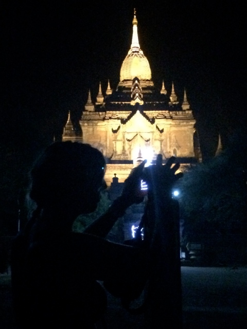 Night time Pagodas, Bagan