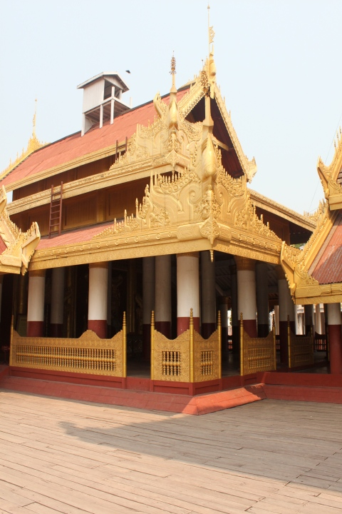 Gilded rooves of a Mandalay temple